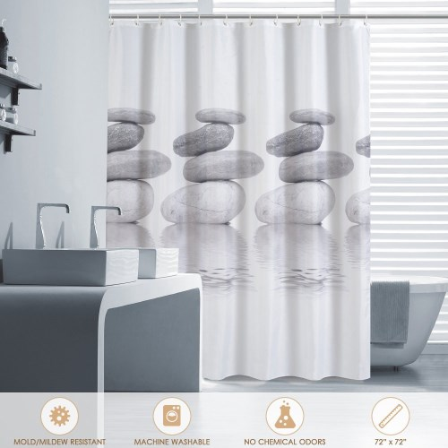 Htovila stampato tenda della doccia